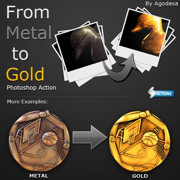 From Metal to Gold - Photoshop Action