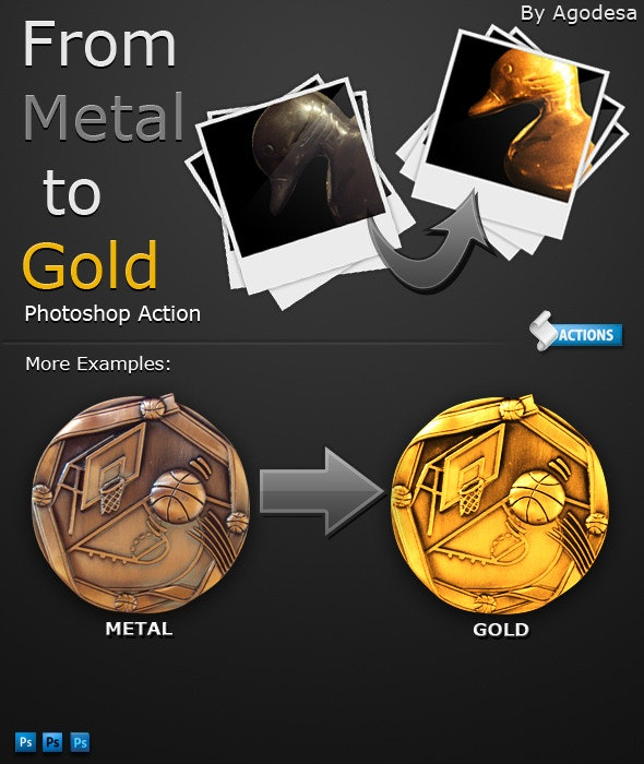 From Metal to Gold - Photoshop Action - Utilities Actions