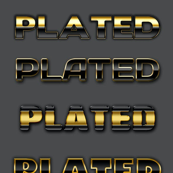 Gold & Silver Text Effects