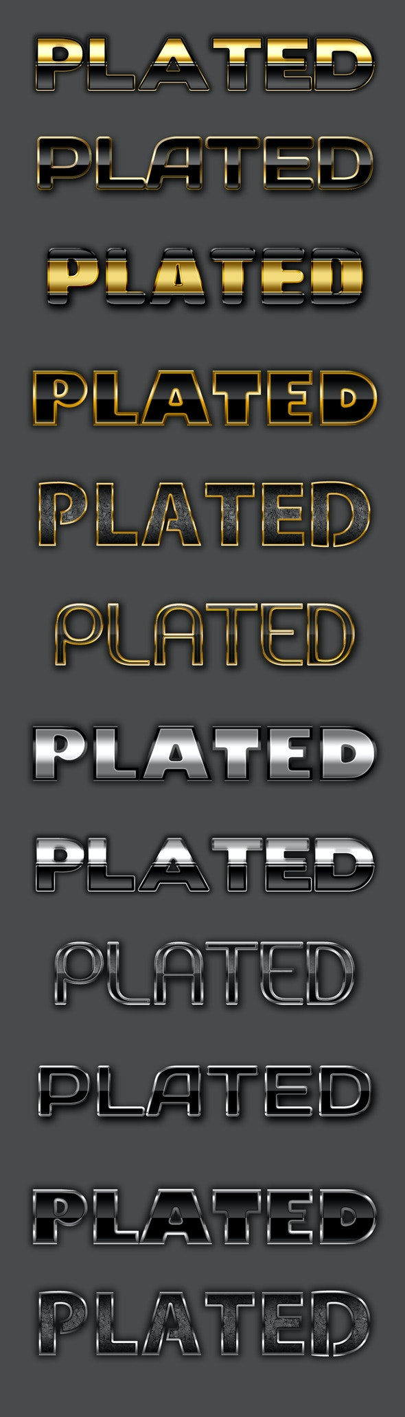 Gold & Silver Text Effects - Text Effects Styles