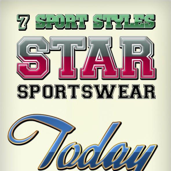 Sportswear Photoshop Text Effects Styles