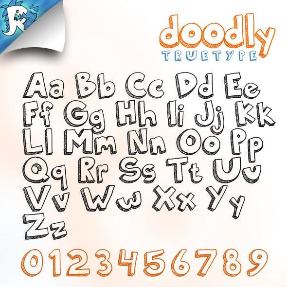 Doodly TrueType - Doodle Font