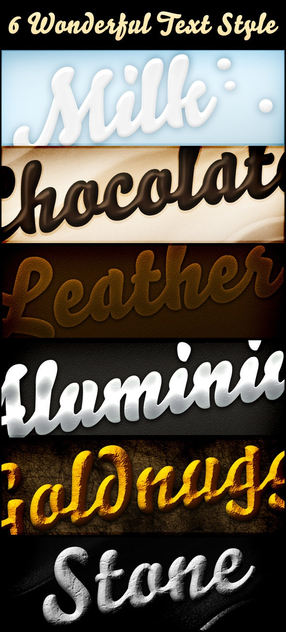 Pro Text Styles Vol.1 - Text Effects Styles