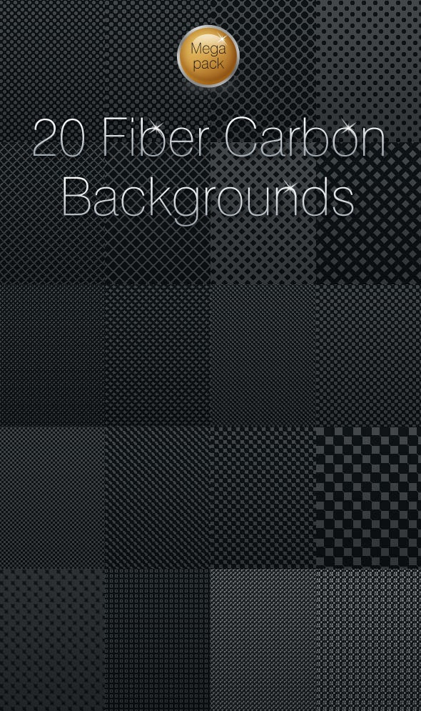 20 Fiber Carbon backgrounds - Textures / Fills / Patterns Photoshop