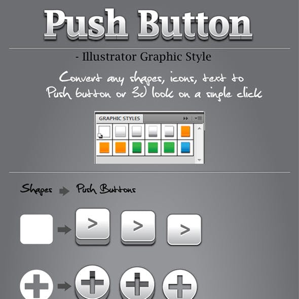 10 Push Button Graphic Style