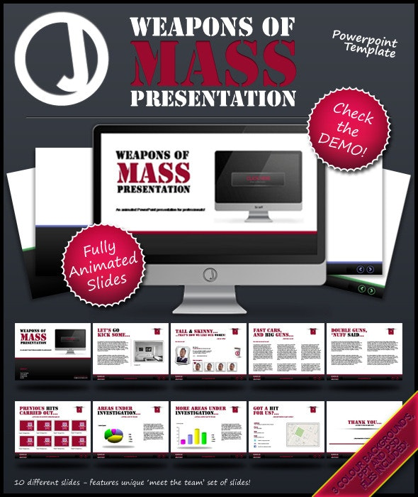 Weapons of Mass Presentation - PowerPoint Templates Presentation Templates