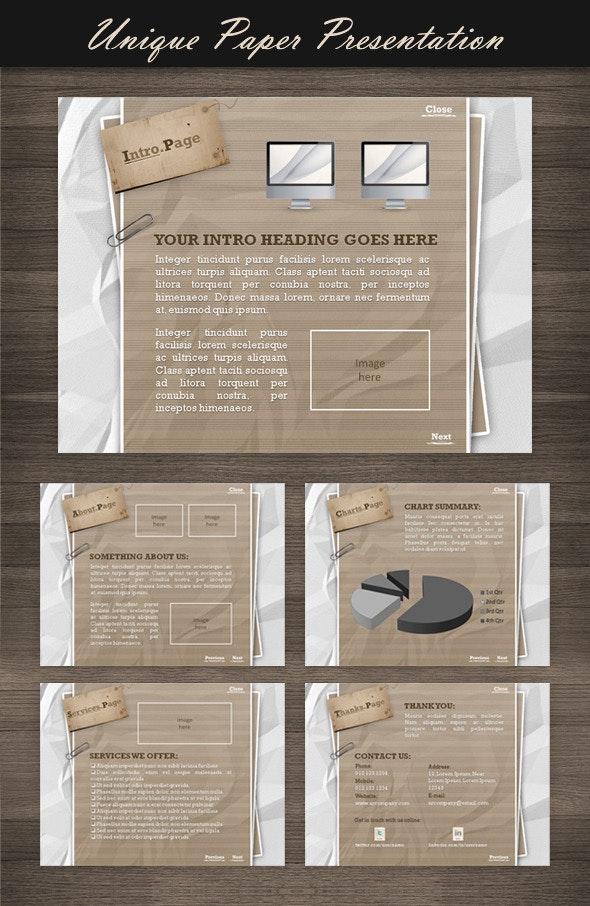 Unique Paper Presentation