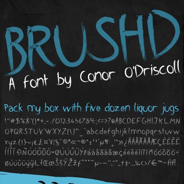 Brushd Font
