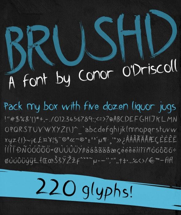 Brushd Font - Calligraphy Script