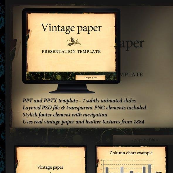 Vintage paper presentation template