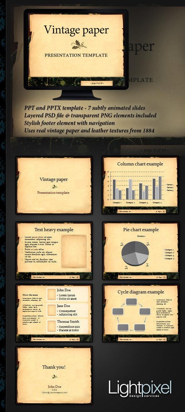 Vintage paper presentation template - PowerPoint Templates Presentation Templates