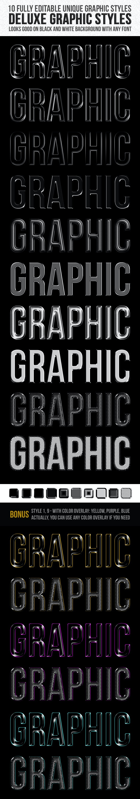 Deluxe Graphic Styles - Text Effects Styles