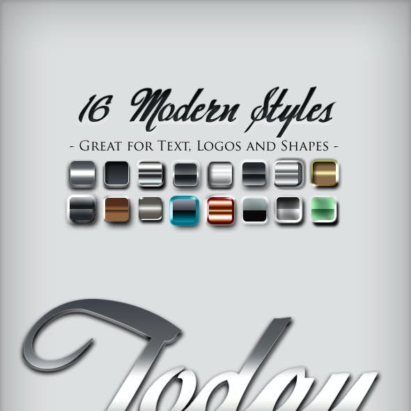 16 Modern Photoshop Text Effects Styles