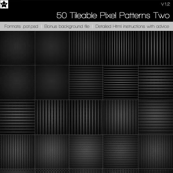 50 tileable pixel paterns + 10 Bonus patterns