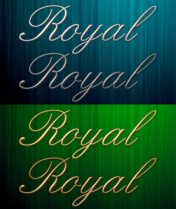 4 Royal Metal Photoshop Styles - Photoshop Add-ons