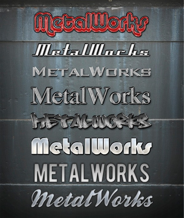 MetalWorks vol. I - Text Effects Styles