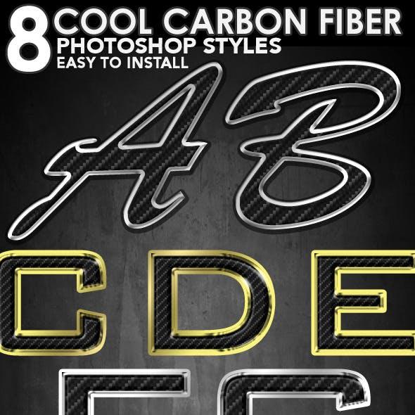 8 Cool Carbon Fiber Photoshop Styles