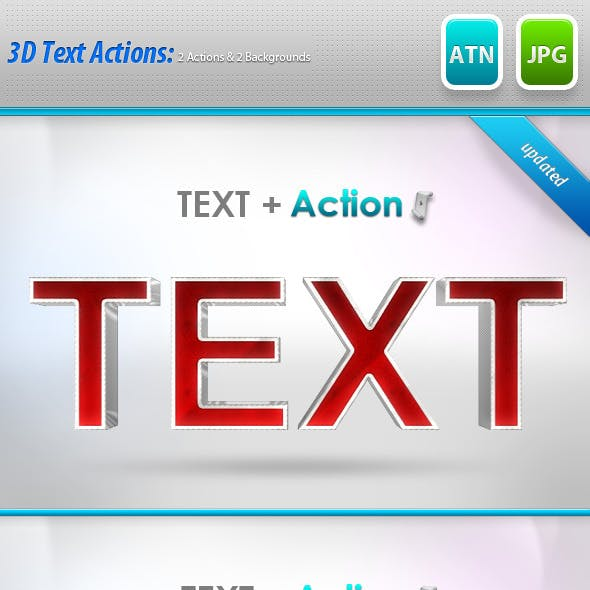 3D Text Style Actions : 2 Diffrent Styles