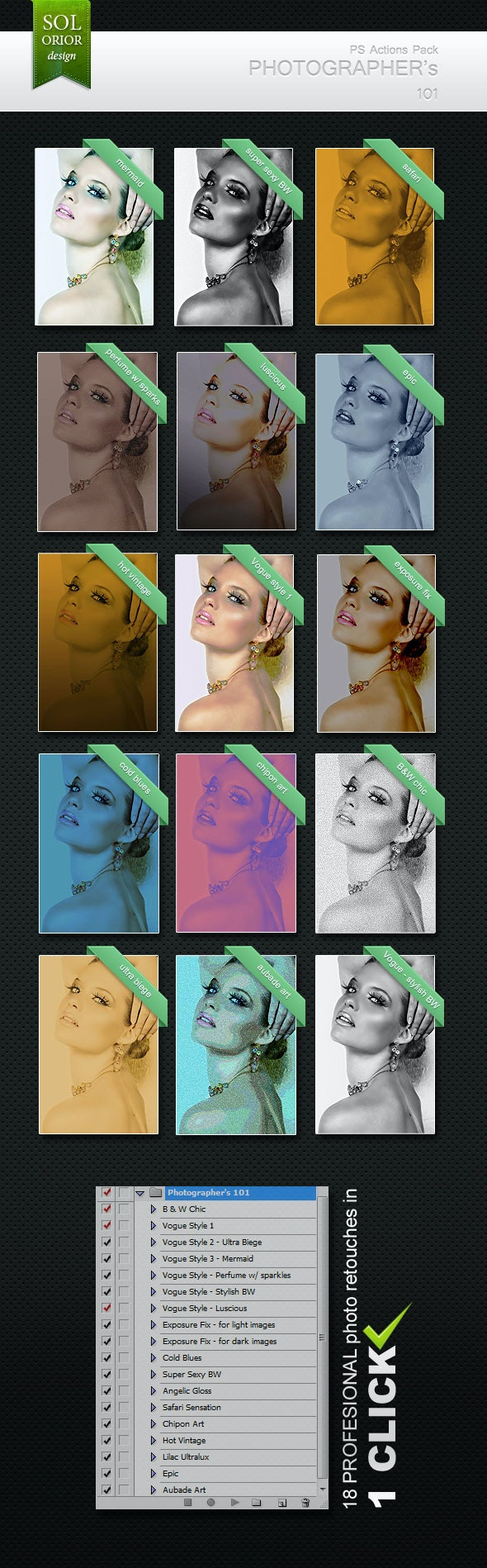 Photographer's 101 - Photoshop Actions - Photoshop Add-ons
