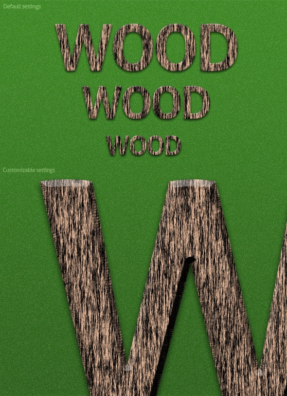 Cheshim Wood Action - Text Effects Actions