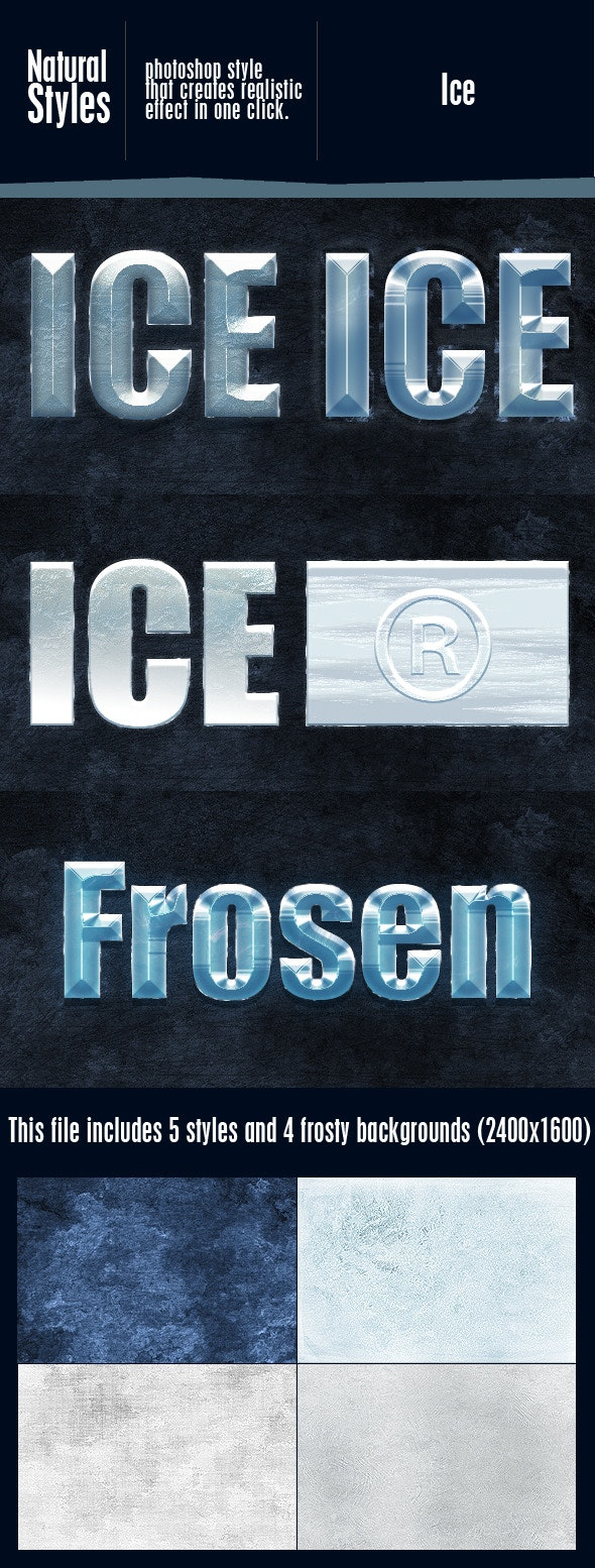 Ice Effect Styles - Text Effects Styles