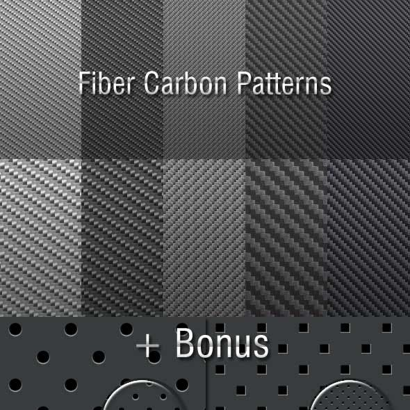 Fiber Carbon Pattern Background - Vol-9