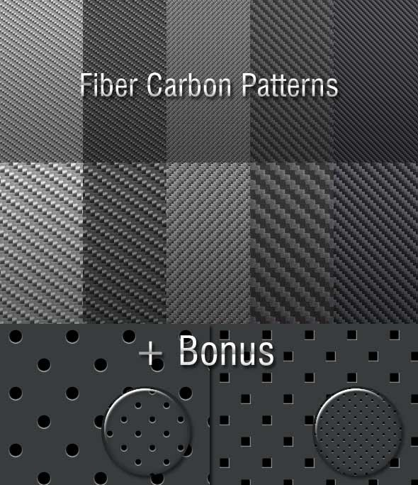 Fiber Carbon Pattern Background - Vol-9 - Techno / Futuristic Textures / Fills / Patterns