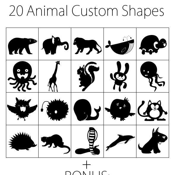 15 Animal Custom Shapes + Bonus