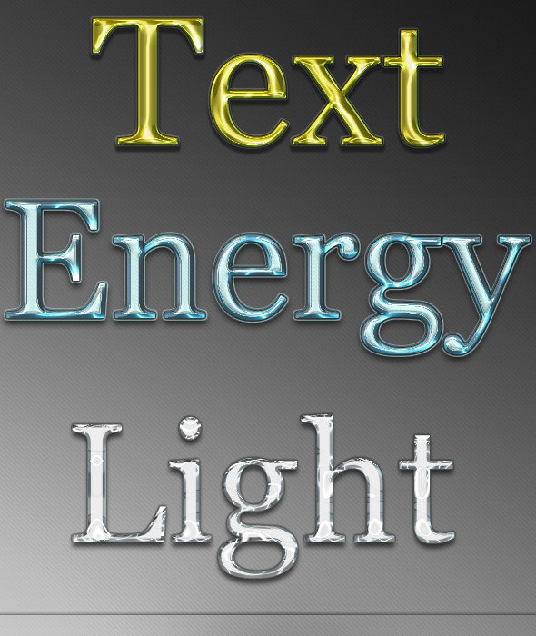 Text Energy Style  - Text Effects Styles