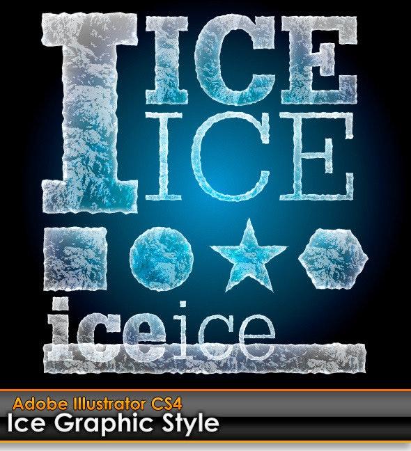 Ice Illustrator Graphic Style - Styles Illustrator