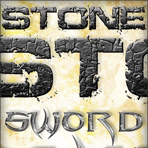 6 Quest - Metal Stone Water & Glowing Text Styles