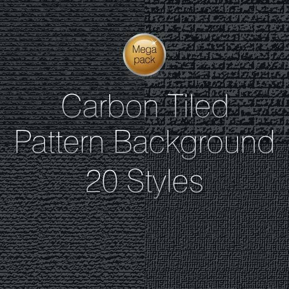 Carbon Tiled Pattern Textured Background Vol. 12