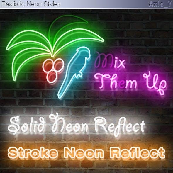 Realistic Neon Styles