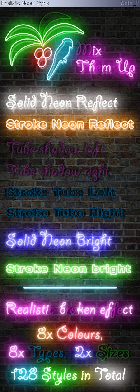 Realistic Neon Styles - Text Effects Styles