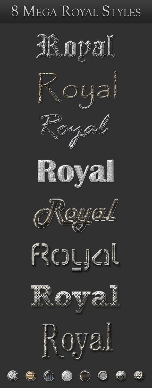 8 Mega Royal Styles - Text Effects Styles