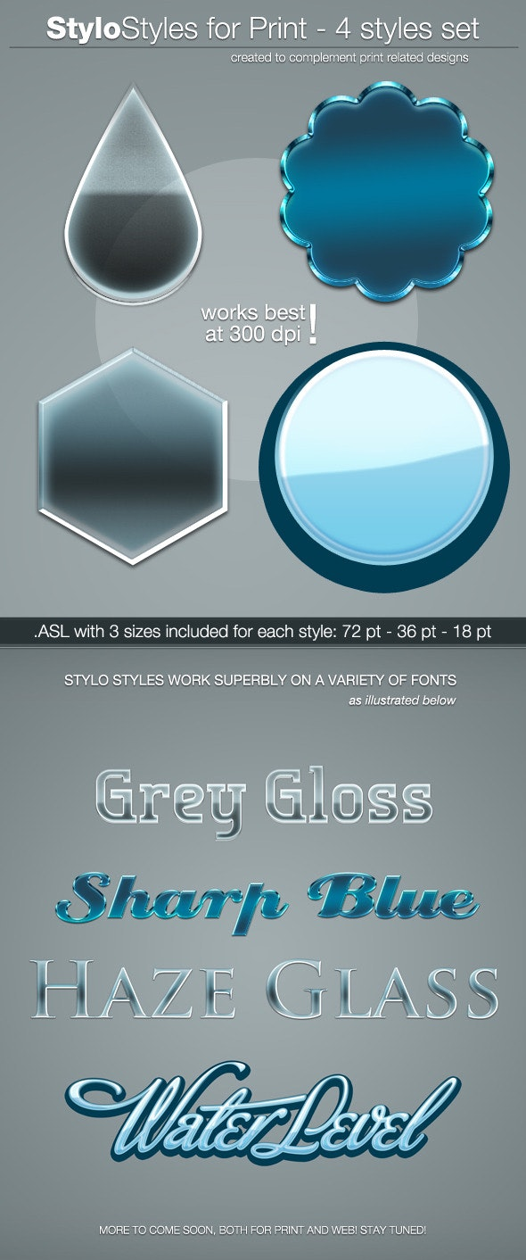 StyloStyles for Print - Text Effects Styles
