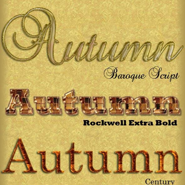 10 Autumn Layer Styles