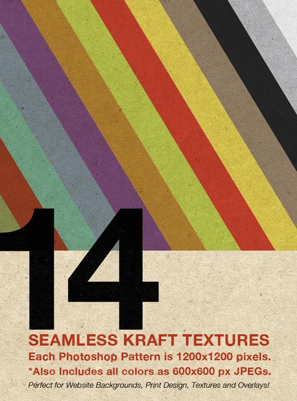 Seamless Kraft Patterns (14 Colors!) - Nature Textures / Fills / Patterns