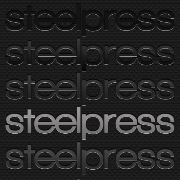 Steelpress - Unique Photoshop Styles/Text
