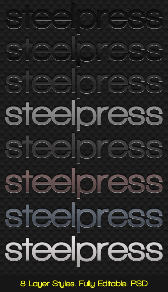Steelpress - Unique Photoshop Styles/Text  - Text Effects Styles
