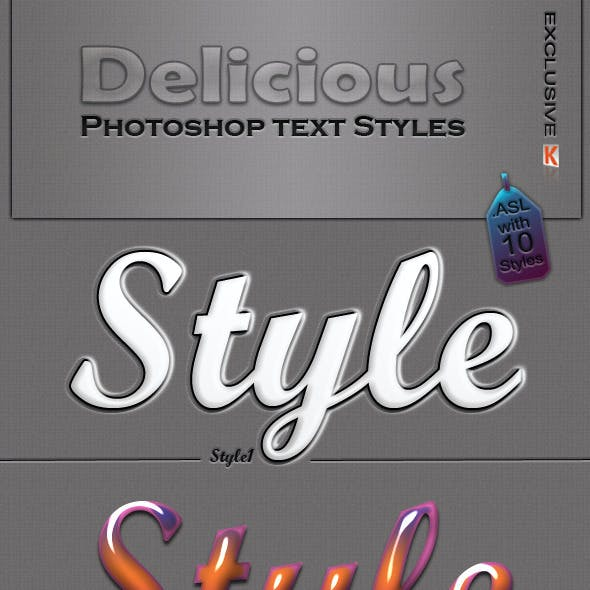 Delicious Photoshop Styles