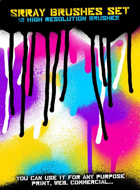 Spray Brused Set - Grunge Brushes