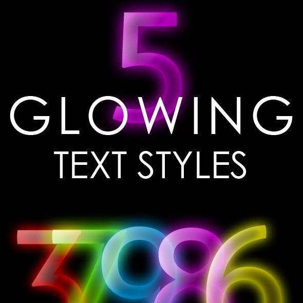 Glowing Text Style