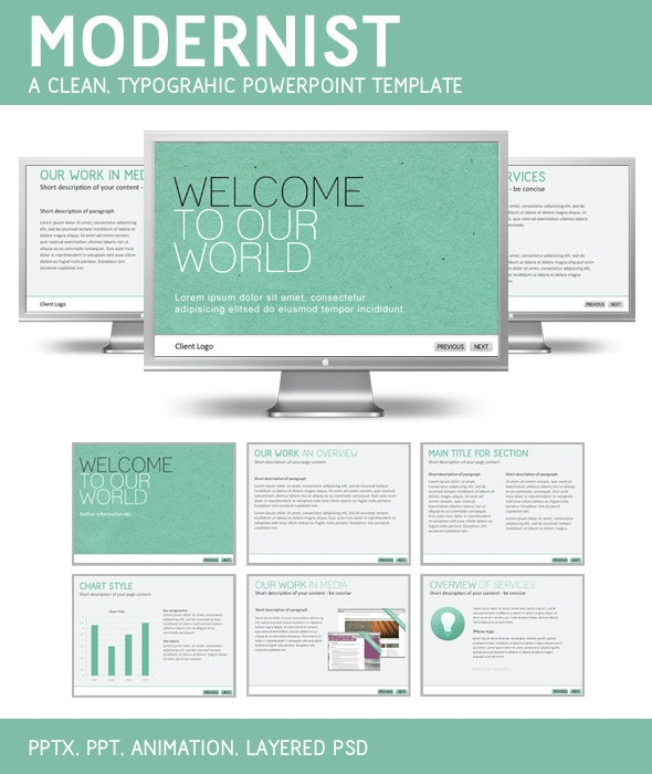 Modernist PowerPoint Template - PowerPoint Templates Presentation Templates