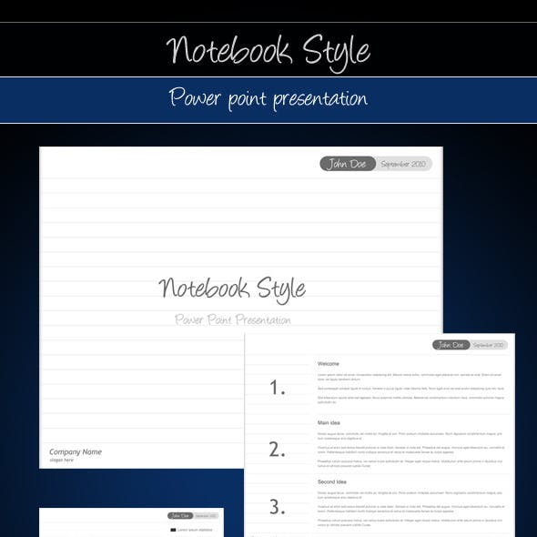 Notebook Presentation Templates From Graphicriver