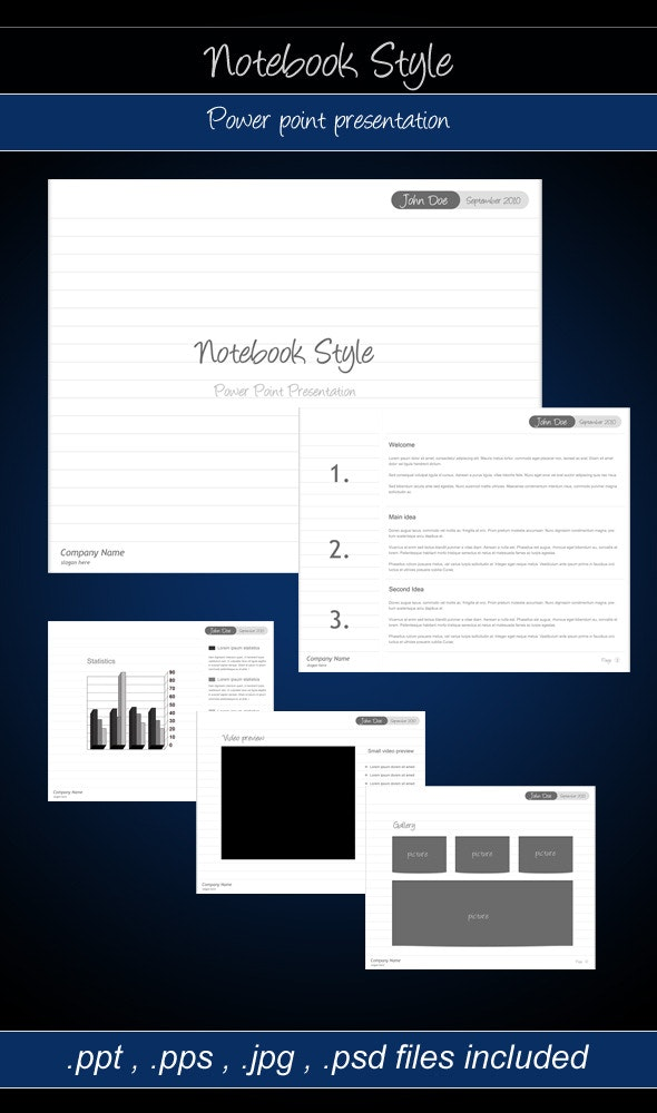 Notebook Style - Power point presentation - PowerPoint Templates Presentation Templates