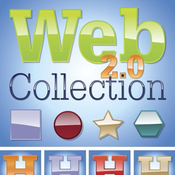 Web 2.0 Glossy Illustrator Graphic Styles