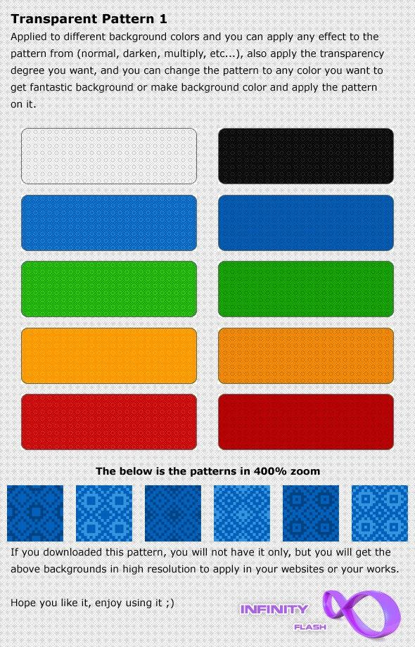 Infinity Transparent Patterns 1 - Textures / Fills / Patterns Photoshop