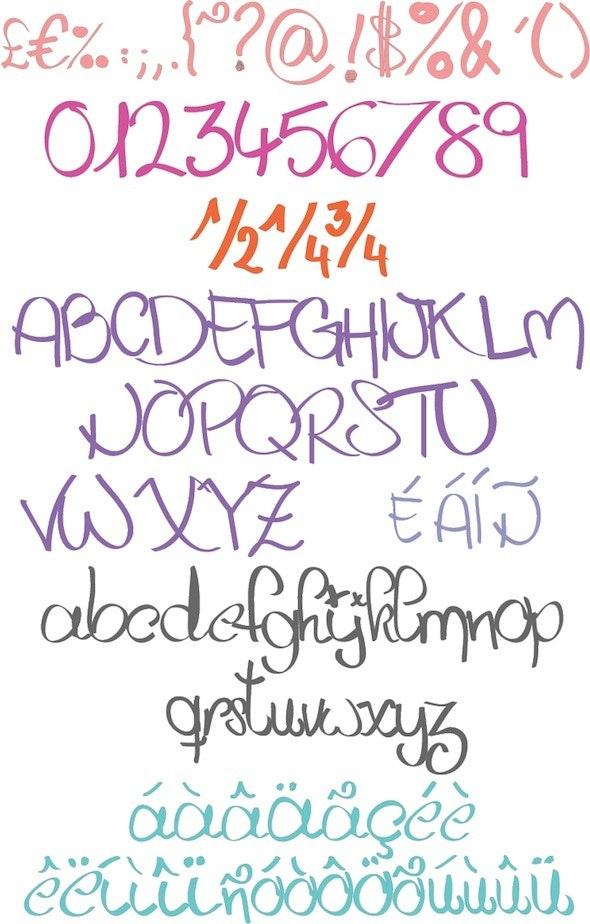 Handabit - Hand-writing Script