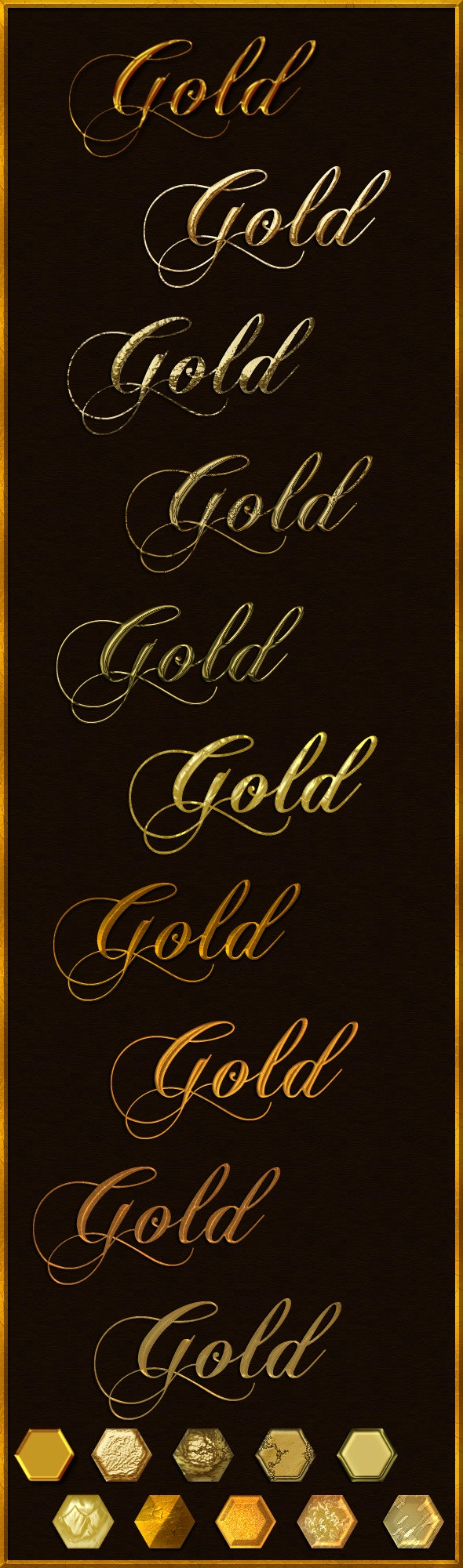 Elegant Gold - 10 layer styles - Photoshop Add-ons